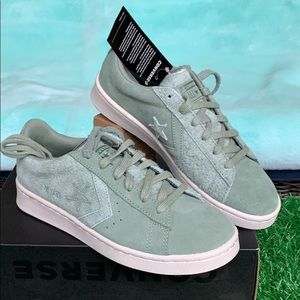 CONVERSE PRO LEATHER OX LILY PAD/PALE PUTTY/BLK MN